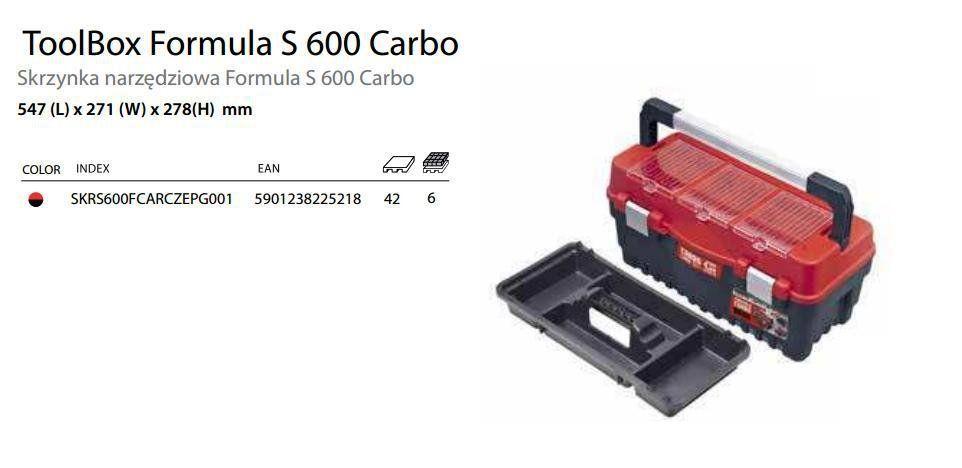 Ящик ддля инструмента PATROL Formula S ALU 600